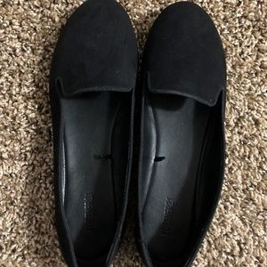Black Loafer for Women Suede